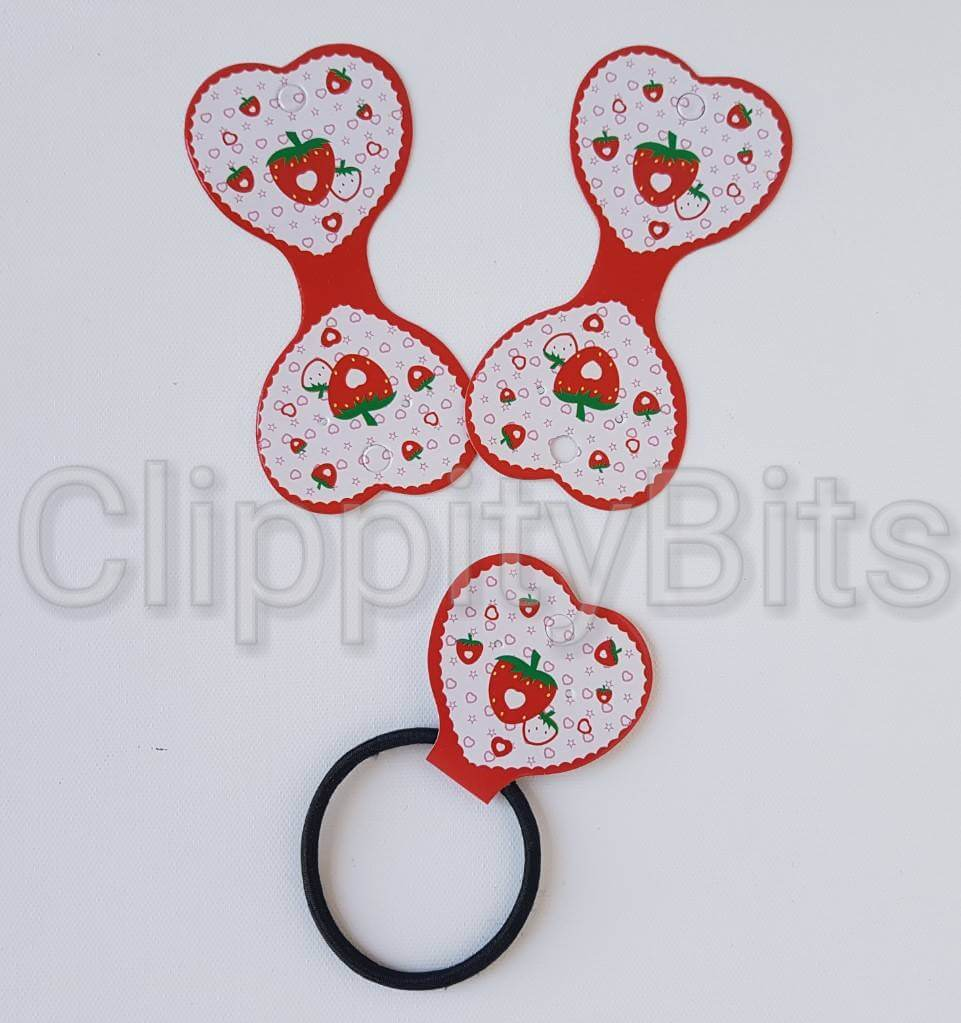 Red Strawberry Design Elasticated Bobble Card Display Holder
